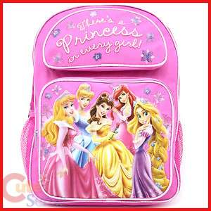 Disney Princess w/Rapunzel School Backpack Bag 16
