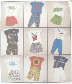 Childs Knit T Shirt Pants Shorts Pattern 6933 Creative