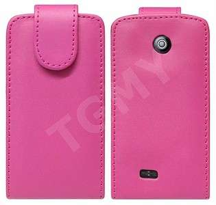 PINK LEATHER FLIP CASE FOR SAMSUNG GALAXY EUROPA i5500