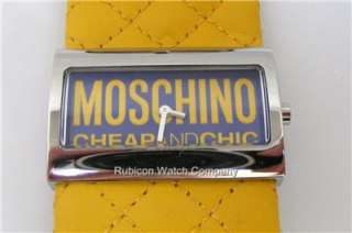 MW0015 Moschino Ladies Time For Fashion Yellow Watch