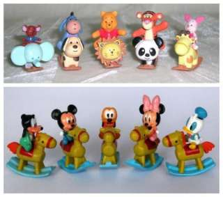 Disney Mickey mouse winnie puuh mini bascule figurine lot 10pcs