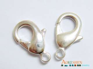 925 Sterling Silver Lobster Clasps Charm Beads Jewelry Fit Bracelet