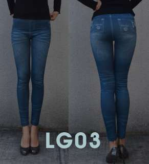 Sexy Women New Simple Button Skinny jeans Leggings S~L