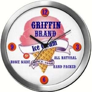 GRIFFIN 14 Inch Ice Cream Metal Clock Quartz Movement: