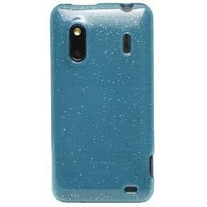 Blue GlitterFlex Flexible TPU Cover for HTC Hero S (US Cellular) & HTC