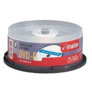 Imation Corp 25PK DVD R 4.7GB 8X WHT INKJET PRINTABLE