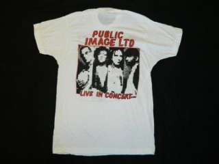 VTG BIG AUDIO DYNAMITE PUBLIC IMAGE LTD TOUR T SHIRT NOS DEADSTOCK PIL