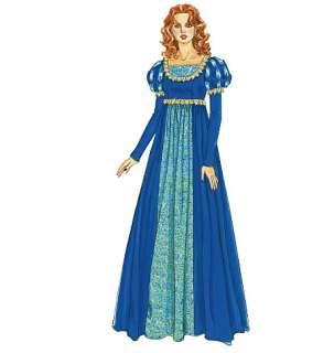 M 6141 Patron couture déguisement Renaissance T36 50