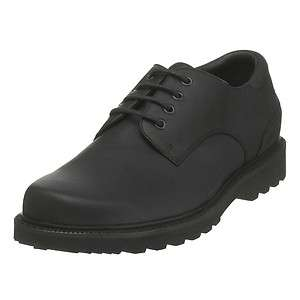 NORTHFIELD Mens Black Leather Casual Waterproof Comfort Oxford