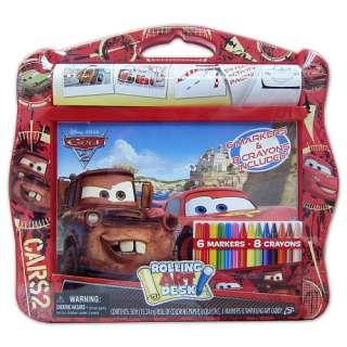 Disney Pixar Cars 2 Rolling Art Desk   Tara Toys   Art Kits & Sets