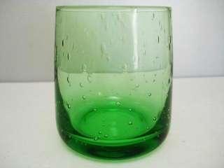 Green Bubble Glass Tumbler