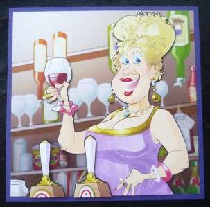 Cartoon Style Barmaid Landlady Birthday or Any Occasion Card