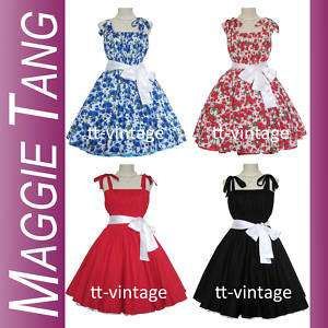 50s Vintage Style Rock Dance rockabilly Costume Dress