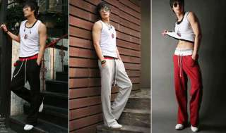 Men Sports Gym Jogging Casual Long Pants Trousers Fva