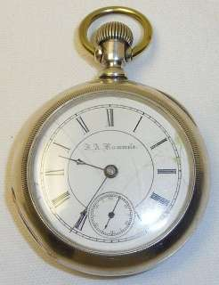 SETH THOMAS POCKET WATCH 18S 15J MODEL 3 RUMMELS MANITOWOC WI DIAL