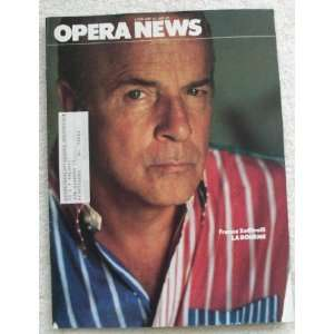 Opera News Magazine. January 16, 1982. Single Issue