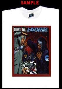 GENIUS GZA LIQUID SWORDS CUSTOM T SHIRT TEE wu tang 595