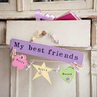 personalised my best friends sign by primitive angel country store