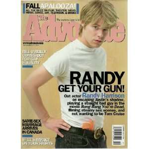 (Magazine) ~ September 17, 2002 ~ Randy Harrison Advocate Books