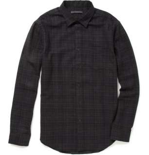 John Varvatos Plaid Wool Flannel Shirt  MR PORTER