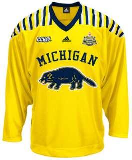 Michigan Wolverines adidas Gold Premier Retro Hockey Jersey