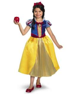 Girls Deluxe Shimmer Disney Snow White Costume  Girls Disney
