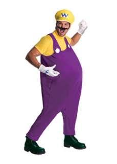 Deluxe Super Mario Wario  Cheap TV & Movie Halloween Costume for Men