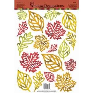 Foil Leaves Window Clings (1 Sheet)   Costumes, 29302