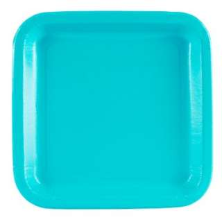 Turquoise Square Dinner Plates (12 count)   Costumes, 66118