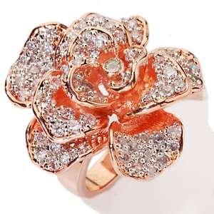 Justine Simmons Jewelry 5.92ct CZ Silvertone Pavé Circle Ring