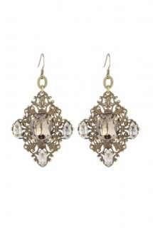 Anton Heunis  Grace Kelly Crystal Encrusted Earrings by Anton Heunis