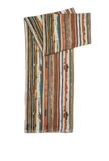 Paul Smith Accessories  Vintage Broken Multi Stripe Print Scarf by