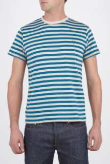 Fred Perry  Navy Grey Stripe T Shirt by Fred Perry
