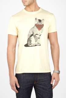 2K by Gingham  Ecru Cat Bandit T Shirt by 2K by Gingham