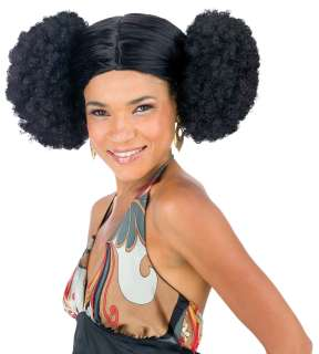 Afro Poof Wig Adult   Afro Poof wig is black.