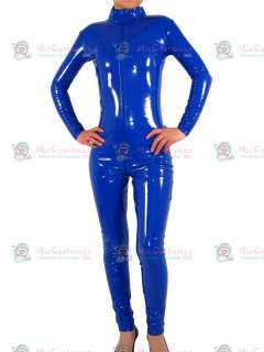 Royal Blue Front Open PVC Unisex Catsuit