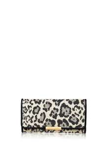 by Chloe Accessories  Black Cherry Long Fold Wallet by See by Chloe