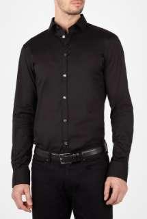 Black Poplin Logo Initial Slim Shirt by D&G Dolce & Gabbana