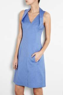 Moschino Cheap & Chic  Cornflower Blue Cotton Pique Dress by