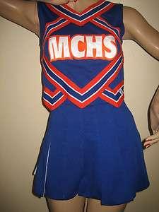Orange White Cheerleader Uniform Outfit Halloween Costume MCHS