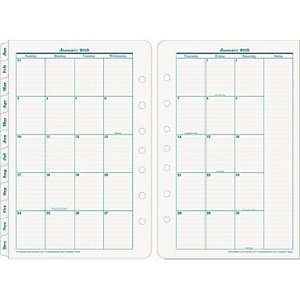 Pages Per Month Calendar Tabs/Pages 4.25 x 6.75: Office Products
