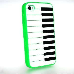 Lime Green Piano Keyboard Style Design Soft Silicone Skin