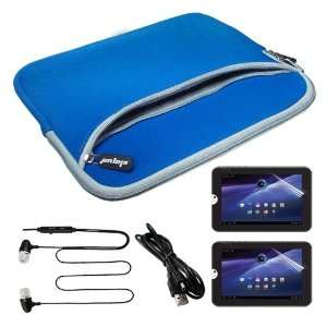 Premium Blue Dual Poacket Carrying Case with 2 pack of LCD