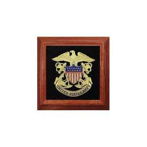 Navy Shield, Eagle and Anchors Framed Medallion