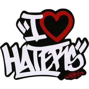 DGK I Love Haters Sticker 174311100  Accessories  Tillys