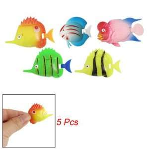 Como Aquarium Multi colored Plastic Tropical Fish Décor