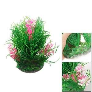 Como Aquarium Fish Tank Green Ultra Pink Plastic Ornament