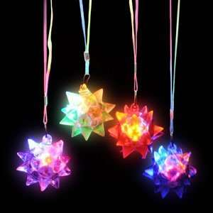 LED Star Ball Necklace Assorted Colors Toys & Games