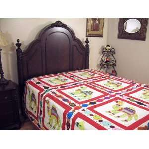 Bedspread Chain Stitch Indian Tapestry Bedding Full