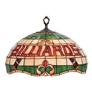 Billiards Theme Stained Glass Pendant Ceiling Light